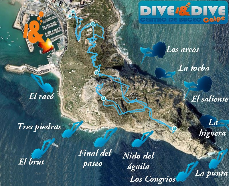 Sitios inmersiones peÑon de ifach Calpe